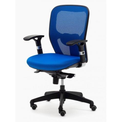 """Silla Ergonómica PEGASO Color Azul, Brazos Regulables 2D y Asiento """"Nido de Abeja"""""""
