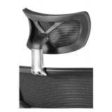 Silla Ergonómica ORION, con Reposacabezas y Soporte Lumbar Regulable, en Negro
